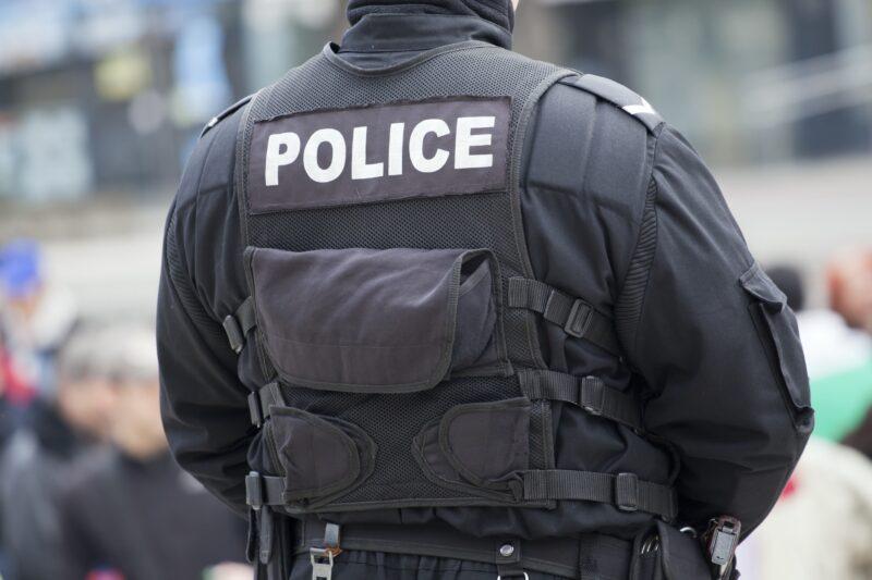 Police Officer In Vest